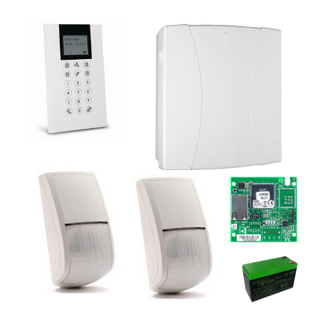 Risco LightSYS 2 - Pack central alarm wired IP + keyboard+ 2 sensors + battery