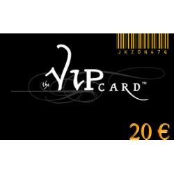 Carte cadeau VIP d'une valeur de 20€