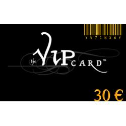 Carte cadeau VIP d'une valeur de 30€