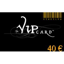 Tarjeta de regalo VIP, con un valor de 40€