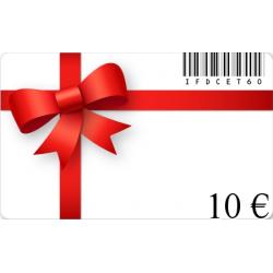 Tarjeta de regalo de cumpleaños de un valor de 10€
