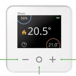 Wiser CCTFR6400 - Thermostat température sur pile