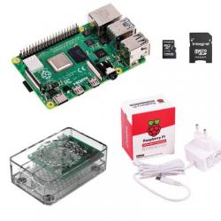 Raspberry Pi4 - Raspberry Pi4 avec alimentation boitier transparent carte SD 128GO