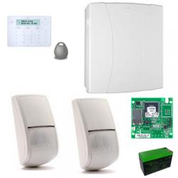 Risco LightSys 2 - Pack alarme filaire IP clavier Elegant lecteur tag