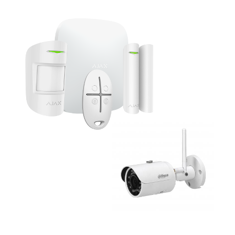 Alarm Ajax Starter Kit, HUB More - wireless Alarm with IP camera 4 Megapixel