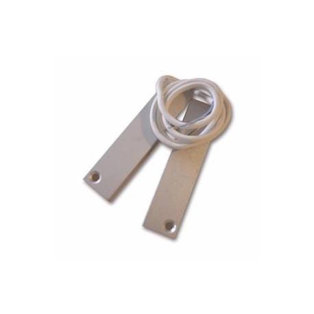 Elmdene 4HD-60 - Détecteur ouverture encastrable alumium NFA2P avec câble 60cm