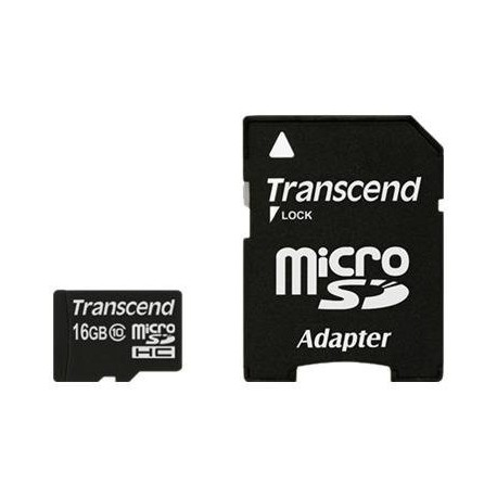Transcend - Card memory flash class 10 16gb