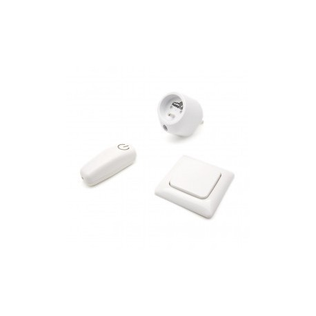 SWIID SwiidPack Normal, el interruptor cuadrado blanco y el tipo de socket E (francés)