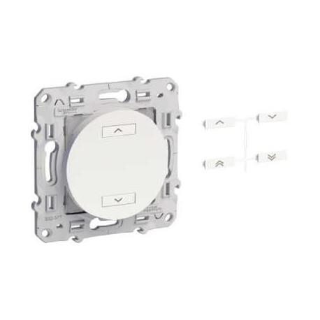 Las emisoras de radio multi-función 2 botones ODACE color aluminio - Schneider