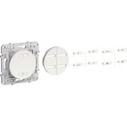 Récepteur radio 2 ou 4 boutons ON / OFF blanc ODACE SCHNEIDER