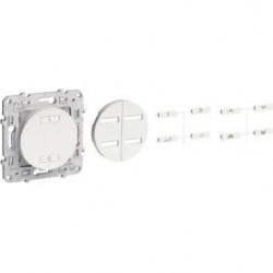 SCHNEIDER - Interrupteur sans fil radio 2 ou 4 boutons ON / OFF spécial rénovation Anthracite ODACE
