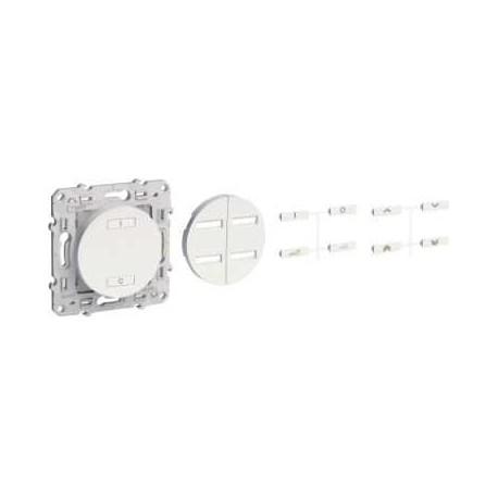 SCHNEIDER - Conmutador de radio inalámbrica de 2 o 4 botones DE encendido / APAGADO especiales de renovación de Antracita ODACE