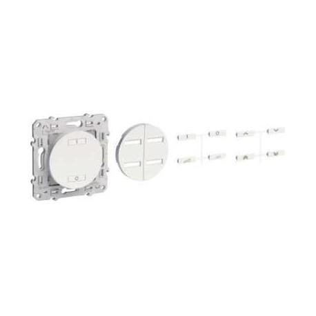 Interruttore radio wireless 2 o 4 pulsanti di azionamento a velocità variabile SCHNEIDER colore Alu ODACE