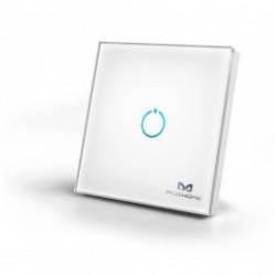 MCO Home - Interrupteur tactile en verre 1 bouton Z-WAVE