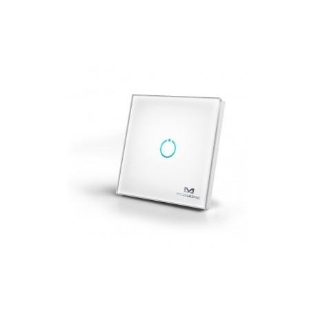MCOHome - Interruttore di tocco di vetro 1-pulsante Z-WAVE