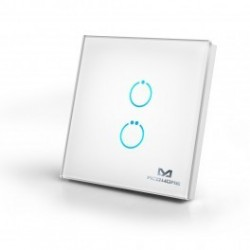 MCOHome - Interruptor táctil de cristal 2-botón Z-WAVE