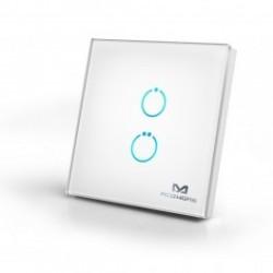 MCOHome - Interruttore tattile in vetro 2-pulsante Z-WAVE